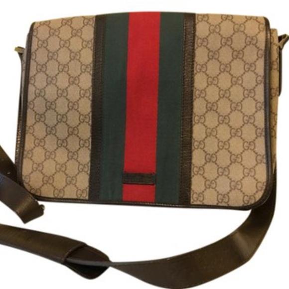 39e9ef72074 Gucci Brown Leather Signature Messenger Bag. Boutique. Gucci.  1604  2200.  Size
